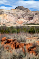 """Road to Abiquiu"", abstract, ""rock formations"", landscape, rocks, ""Georgia O'Keeffe"""