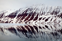 Svalbard, mountains, reflection, Arctic, Norway