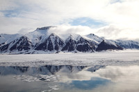 Arctic, Norway, Svalbard, mountains, reflection
