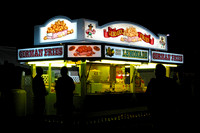 """Big E"", ""Eastern States Exposition"", German, Springfield, West, food, fries, lights, night"
